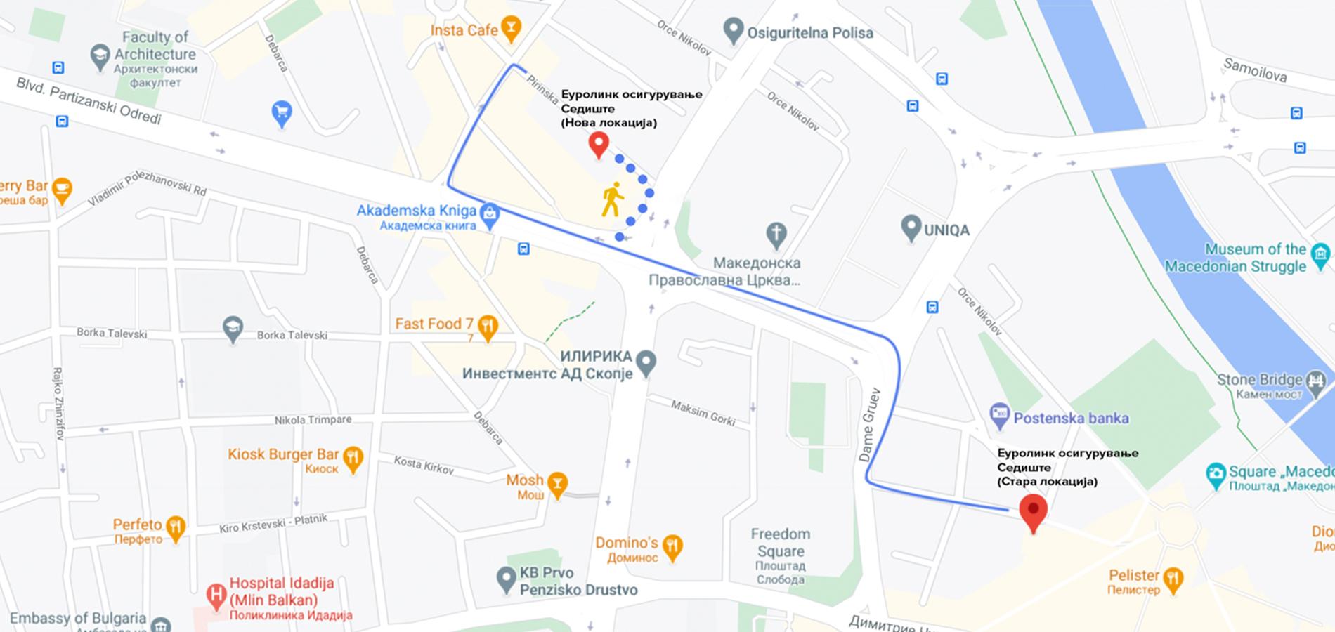 eurolink osiguruvanje nova lokacija